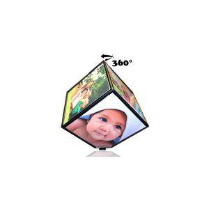 CADRE PHOTO Cube pivotant pour 6 photos - Cadre photo bueau ma