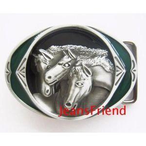 eff73d9d6610 CEINTURE ET BOUCLE boucle ceinture western country cowboy chevaux ver