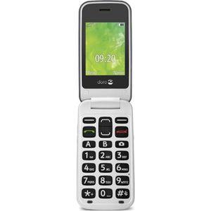 Téléphone portable Doro 2414 Clapet Argent / Blanc - Tout Opérateurs