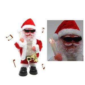 AUTOMATE ET PERSONNAGES Père Noël automate avec bougie LED et cloches , 29