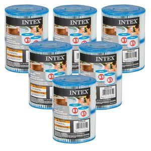 PIÈCE HAMMAM - SAUNA 12 cartouches Pure Spa Intex (6 lots de 2 filtres)