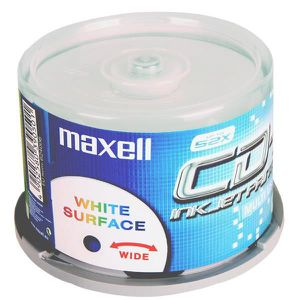 CD - DVD VIERGE   CD-R 80 Min/700 Mo Maxell 52x imprimable Encre