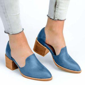 af33bb8d3cf ESCARPIN Femmes Pointed Toe Shoes Talons peu profondes carr