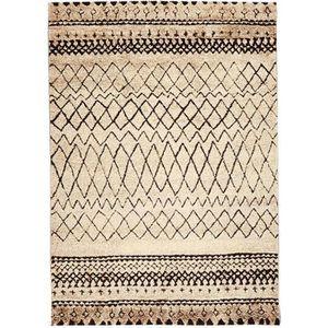 TAPIS NAZAR Tapis de salon Marokko beige et noir