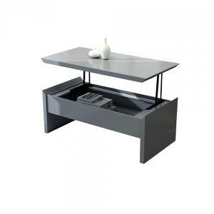 Table Basse Recevable Gris Achat Vente Pas Cher