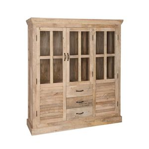 VITRINE - ARGENTIER Vaisselier en bois - FACTORY - L 145 x l 45 x H 16