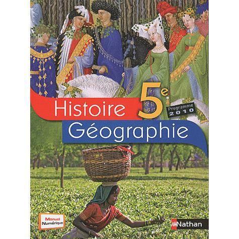 Histoire-géographie 5e - Achat / Vente livre Anne-Marie Hazard-Tourillon;Armelle Fellahi