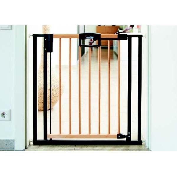 barri re de s curit easylock wood 80 5 88 5 cm gris achat vente barri re de s curit. Black Bedroom Furniture Sets. Home Design Ideas
