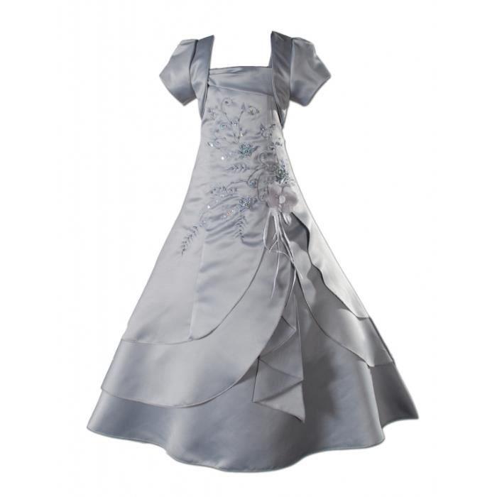 a319ad53d82d9 Robe sainte communion demoiselle… Gris - Achat   Vente robe de ...