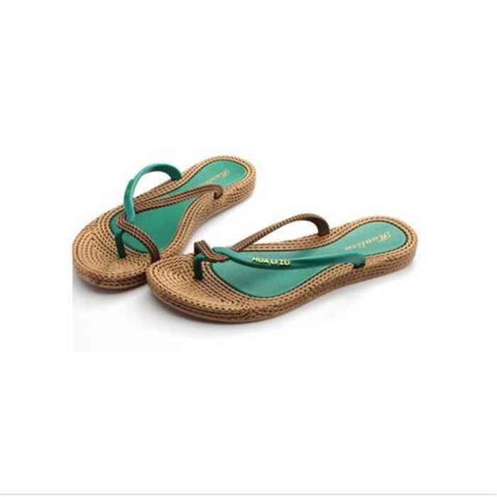 timeless design f831b 92bfc ... plein air chaussures plates Travail à la main Haut qualité Grande  Taille. TONG Femme Tongs Pour plage 2017 ete Nouvelle arrivee d