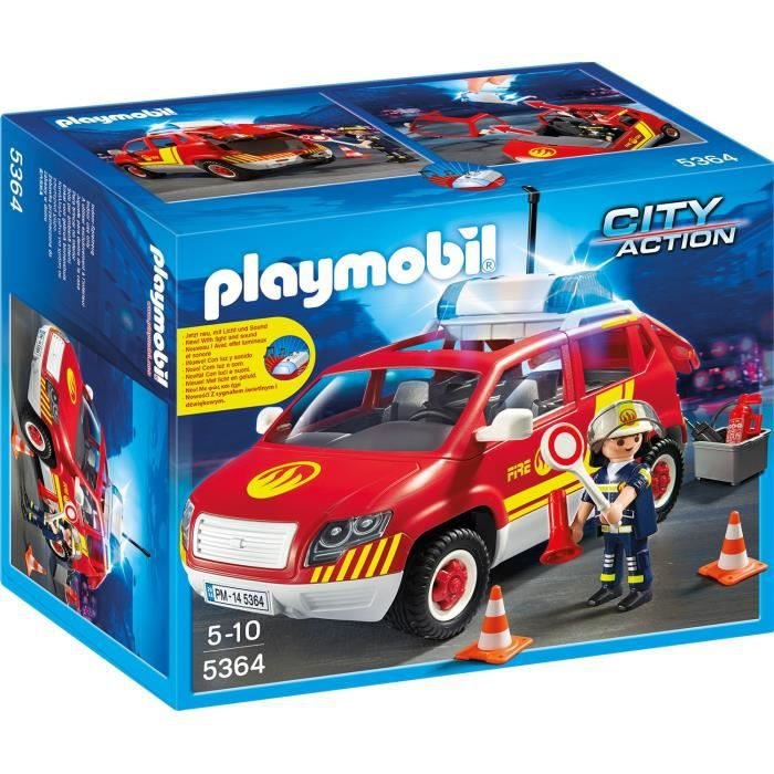 Playmobil 5364 v hicule intervention sir ne achat - 4x4 pompier playmobil ...