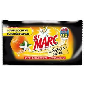 St Marc 80 Lingettes Degraissantes Cuisine Au Savon Noir Parfum