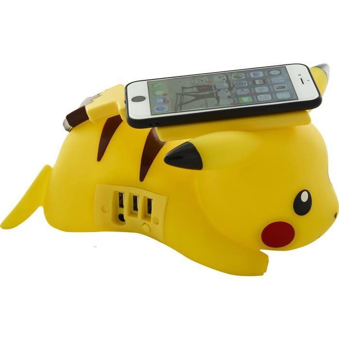 ALIMENTATION MULTIMÉDIA POKEMON Chargeur Induction Pikachu