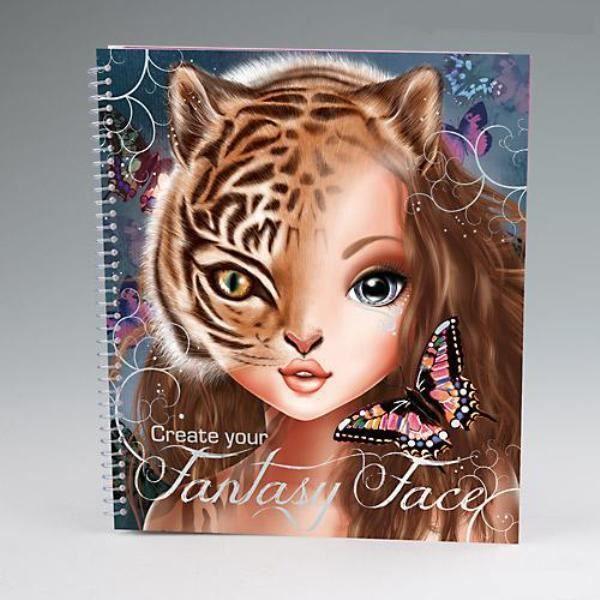 Album coloriage et cr ation topmodel create your fantasy face achat vente livre de coloriage - Top model coloriage livre ...