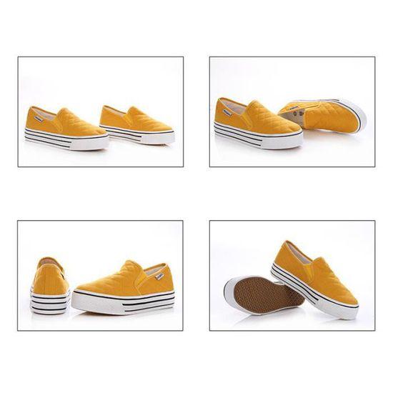 Chaussures Plate Chaussure Bbdg Été Comfortable Printemps Femme xz068jaune35 iPOZukX