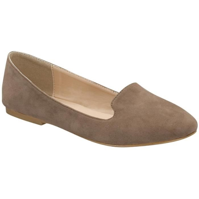 Slip On Smoking Loafer Slipper Flat BPPZ2 Taille-39 1-2 RsQIqxoaYv