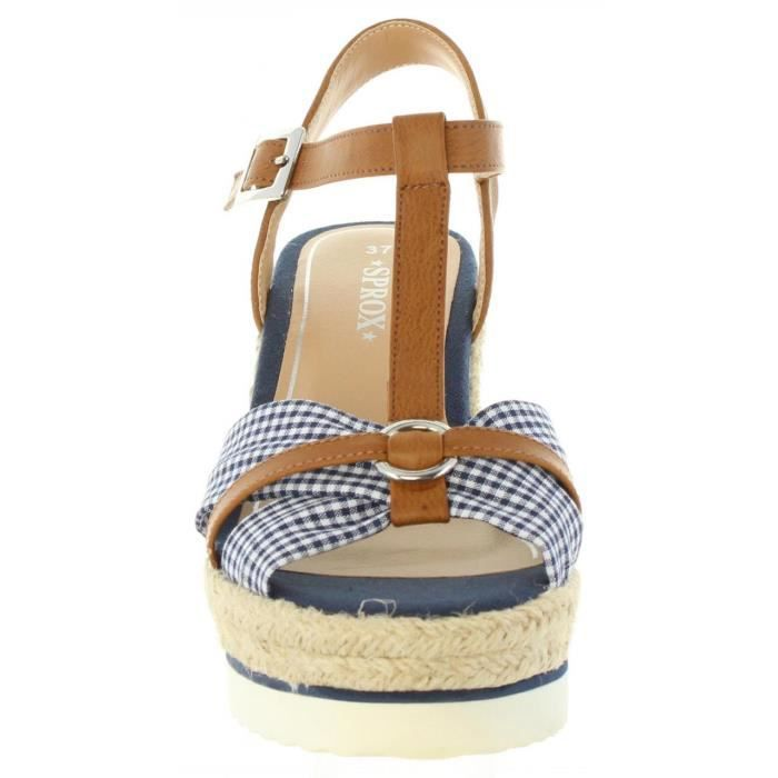 Sandales pour Femme Sprox 395603-B6600 NAVY-NATURAL