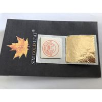 DÉCORATION PÂTISSERIE 100 Feuilles d'or 24 carats dans la base 100% auth