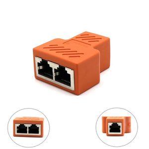 PACK CONNECTIQUE  De 1 à 2 LAN Ethernet réseau RJ45 Diviseur Adaptat