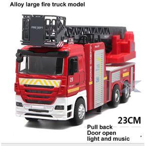 3dccf5fbe75e VOITURE À CONSTRUIRE Alliage camion de pompiers échelle ascenseur son l