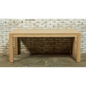 TABLE À MANGER SEULE Table extensible en chêne massif - KUBICO