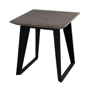 1c2effc24471b6 BOUT DE CANAPÉ Bout de canapé en béton ciré et pieds métal - RAY. ‹›