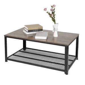 TABLE BASSE JEOBEST® Table basse de salon Armature en métal St