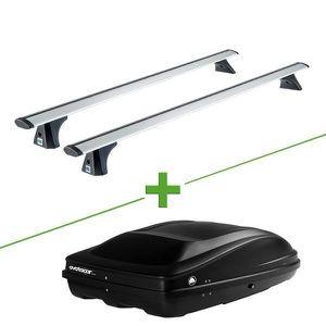 BARRES DE TOIT Pack barres et coffre de toit Cruz Airo fix + Wabb
