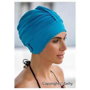 BONNET PISCINE- CAGOULE Dames de bonnet de bain en polyester turquoise bon
