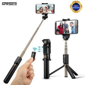 PERCHE - CANNE SELFIE 2 en 1 Bluetooth Perche Selfie Trépied avec Téléco
