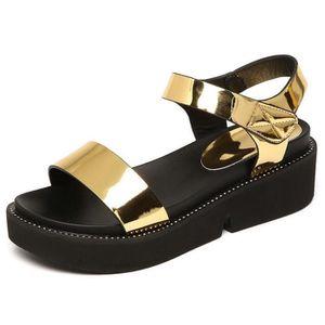 BASKET Sandales femme style casual chaussures cuir été en