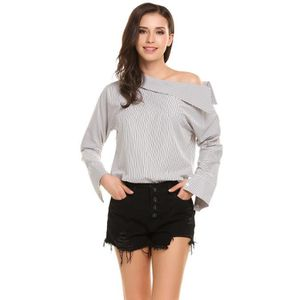 808d0f014bffd CHEMISIER - BLOUSE Zeagoo Rayé épaules manches longues Tops Chemisier ...