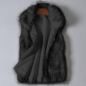 d067c07287 MANTEAU - CABAN Gilet en laine de femmes en fausse fourrure veste