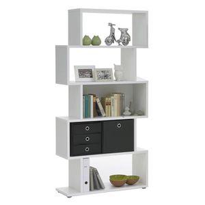 ETAGÈRE MURALE KUBI Bibliothèque contemporain blanc mat - L 84 cm