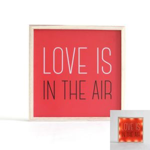 APPLIQUE  Déco lumineuse Love is in the air Autres Rouge