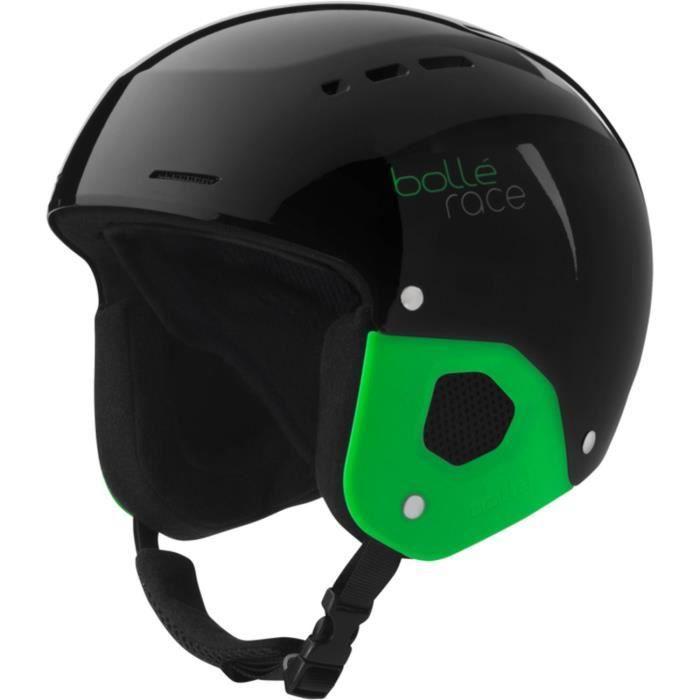 BOLLE Casque de ski enfant Quickster Shiny - Mixte - Noir et vert ... dc569606554e
