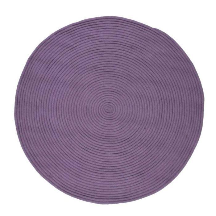 En coton - 120 cm - Lilas - Réversible et facile d'entretienTAPIS - DESSOUS DE TAPIS