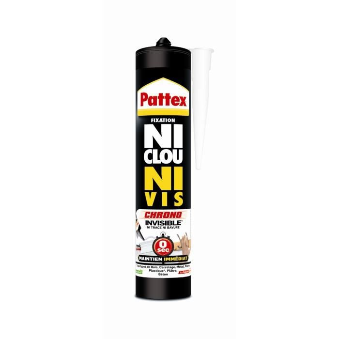 Ni clou ni vis invisible Pattex - Cartouche 310 ml