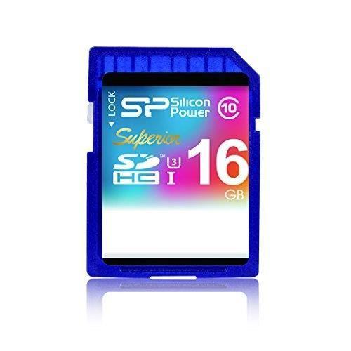 SILICON POWER Carte mémoire SD UHS-1 Superior - 16 Go