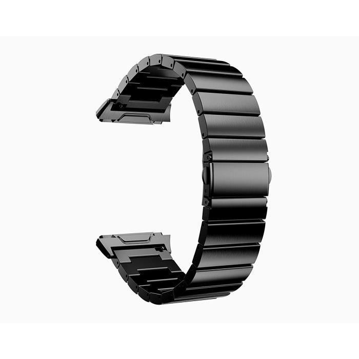 Elégant Acier Mode Remplacement Femmes Bracelet De Luxe Ionic Montre aux Fitbit D'affaires Inoxydable Bande Noir IDWHYE29