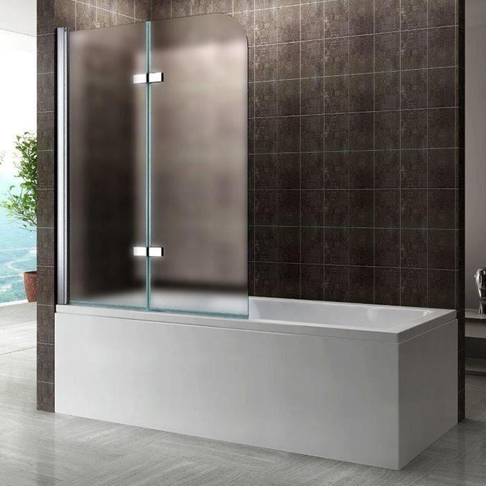 PORTE DE BAIGNOIRE Pare-baignoire 140x140cm OPAQUE porte pliante en v