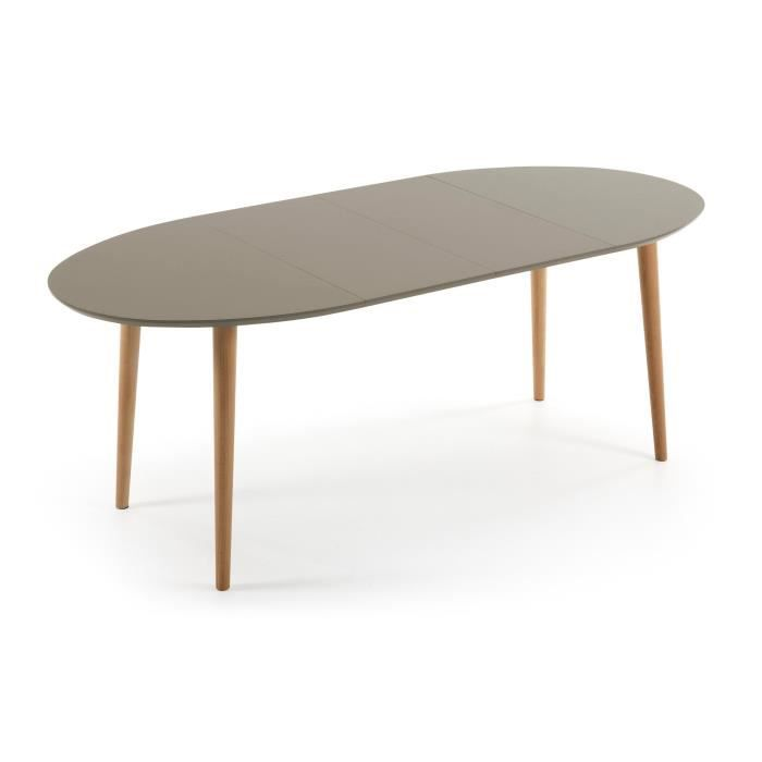 table oqui ovale extensible 120-200 cm, naturel - achat / vente