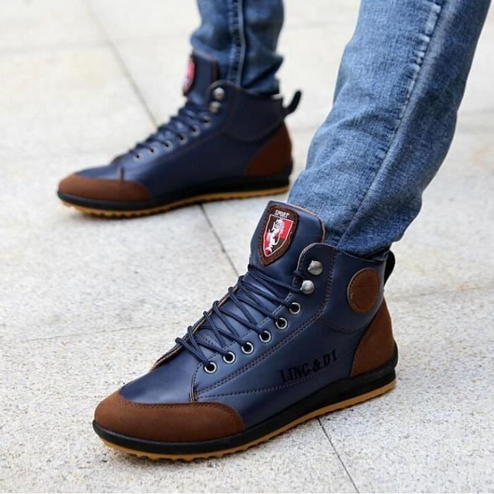 chaussures montantes Mode Chaussure Homme Basket Homme Skate Shoes Msv9311EtH