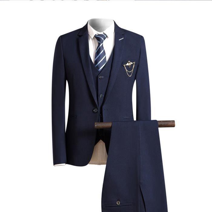 Costume homme Tuxedo Diner trois-pièces d affaire mariage business ... 84fe452849d4