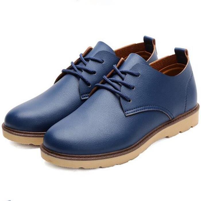 CUSSELEN Chaussure Hommes Antidérapant En Cuir Sneaker Nouvelle arrivee Homme résistantes à l'usure SneakersAdulte XWgCL