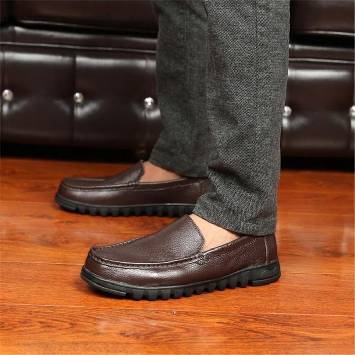 dbe22a76d1a Moccasin Zy Cuir Moccasins Luxe Homme Grande Qualité Chaussures Marron  Marque noir Taille Confortable Supérieure De UrcrqnwEF