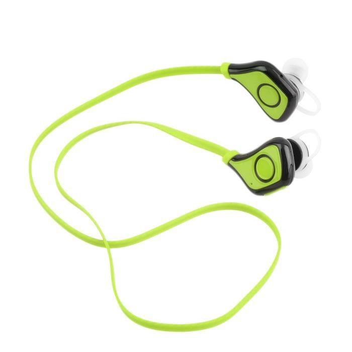 Ecouteur Bluetooth V4.1 Casques Sport Pour Téléphone -couleur Vert