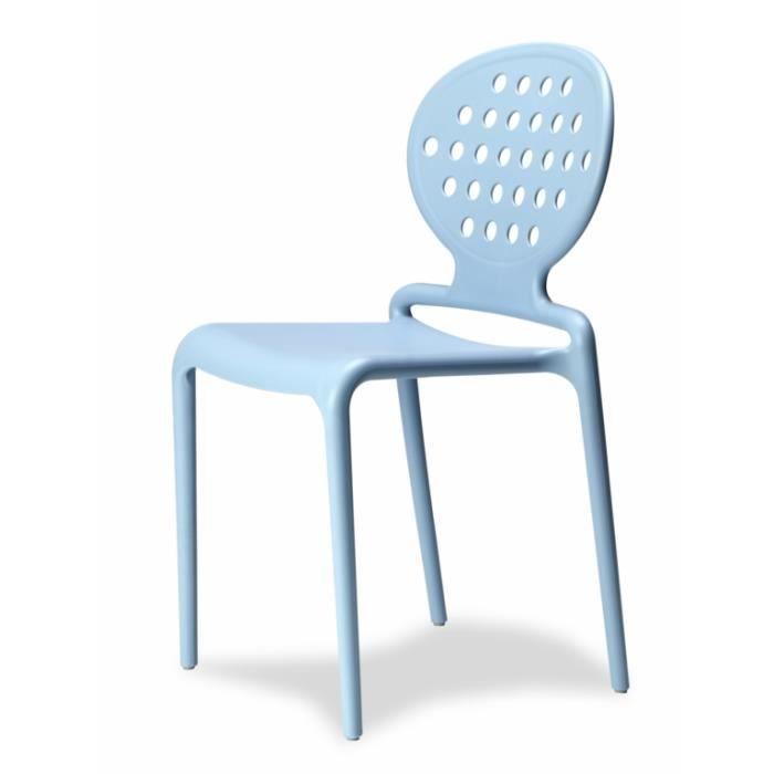 4 Chaises Design Bleu Clair