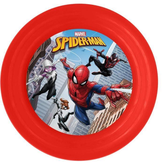 SPIDERMAN Assiette Plate - Ø20 cm - Rouge