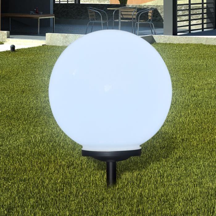 Lampe Boule solaire LED extérieure Diamètre 40 cm Décor jardin patio ...